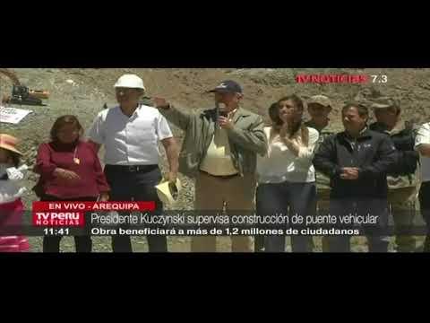 Presidente Kuczynski dio inicio a construcción de puente Arequipa-La Joya