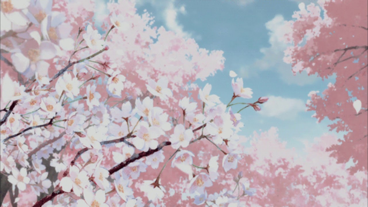 Гифка дерево сакура, открытка скрапбукинг картинка