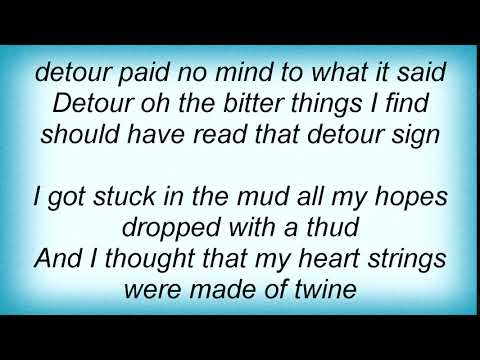 Willie Nelson - Detour Lyrics