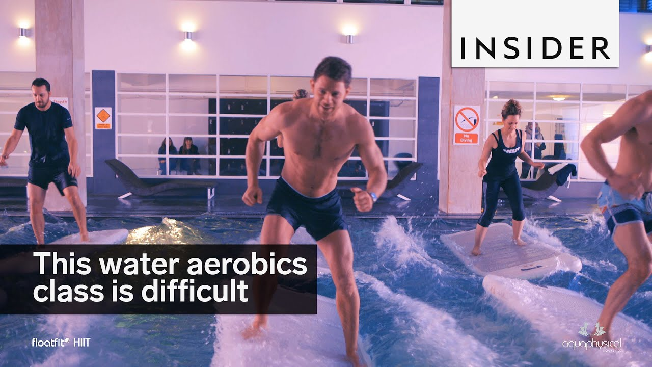 0672283bc30 These water aerobics classes are not for the weak - YouTube