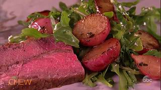 Michael's Pan-Roasted Ribeye with Radishes Recipe | The Chew
