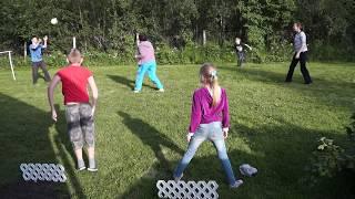 видео Детская подвижная игра вышибалы