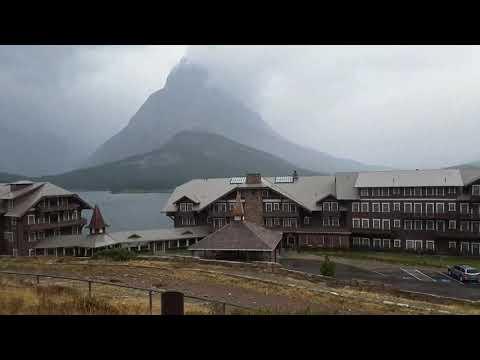Glacier National Park: Storm Hits Glacier Park: Slows Down Fires 09/18/17