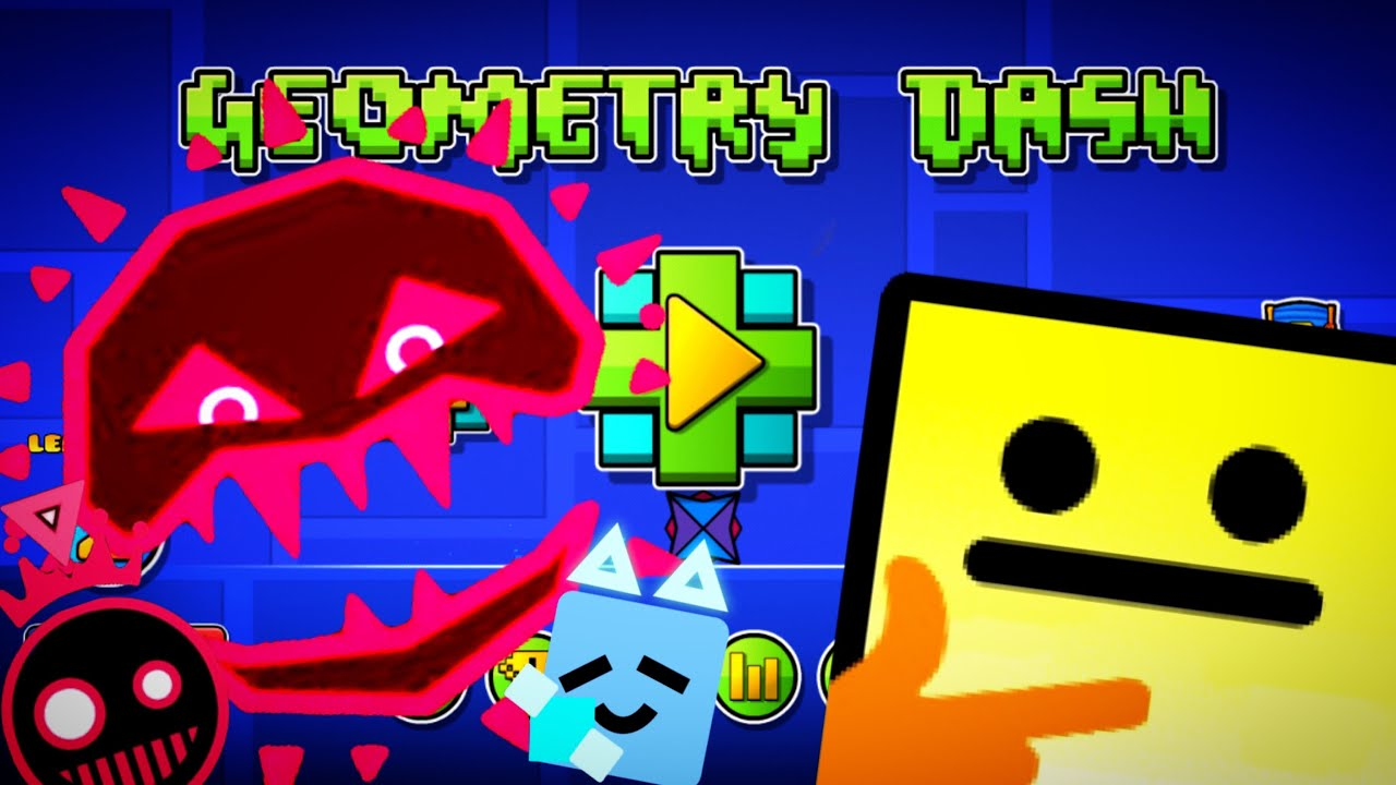 Geometry Dash: Playing just shapes and beats levels