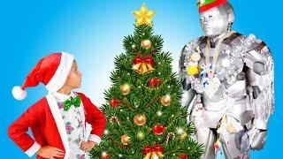 Робот Дед Мороз. Новогоднее Поздравление От Деда Мороза, Стефана и Няни-Робота Стефо