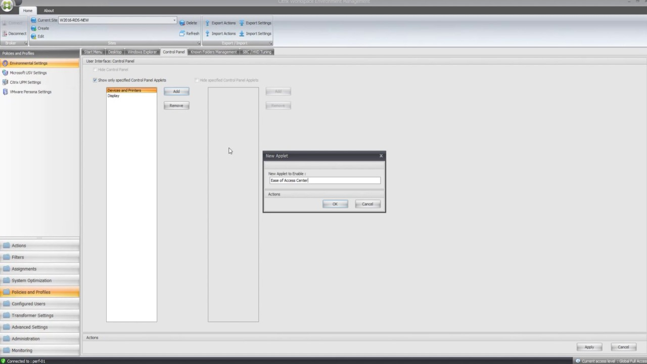 Citrix Workspace Environment Management: Using Policy to