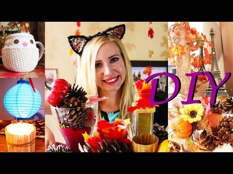 Осенний декор своими руками  Идеи для дома 2016  DIY Tumblr  Fall Room Decor  Декор комнаты смотреть онлайн