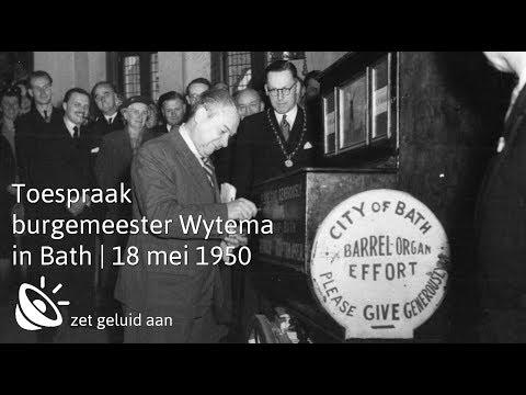 Toespraak Alkmaarse burgemeester Wytema in Bath