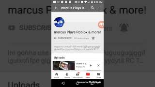 Shout out to Marcus plays roblox and more
