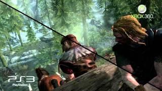 Elder Scrolls V Skyrim 360 vs PS3 gameplay comparison