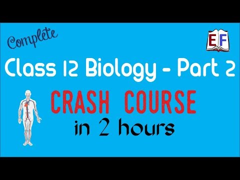 Crash Course Class 12 Bio Biology (Part 2 ) Revision in 2 hrs
