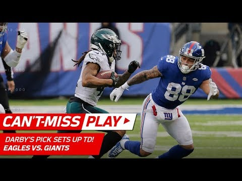 Darby Picks Off Manning, Hits the Spin Button 🎮 & Sets Up Foles' TD | Can't-Miss Play | NFL Wk 15