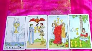 Cups Tarot Card Meaning Minor Arcana Suit Pt 2 - Ace Cups, Two Cups, Three of Cups & Four of Cups