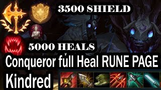 Kindred conqueror IE Crit Full healing rune page | AJZulu | League of Legends