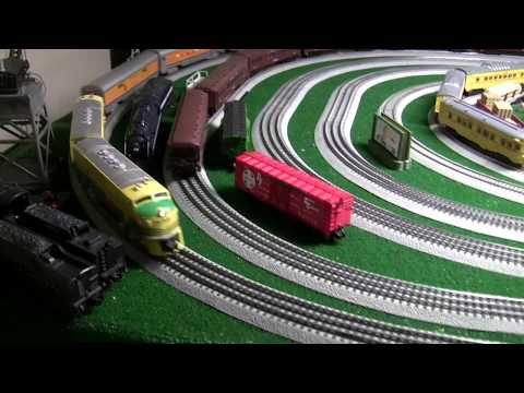 Lionel F3 AA's and streamliner passenger trains (Bob's Layout)