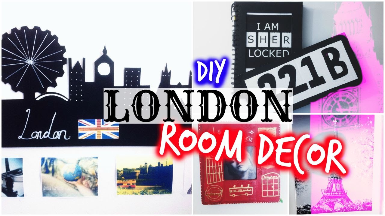 Diy city inspired room decor london youtube for Home decorations london