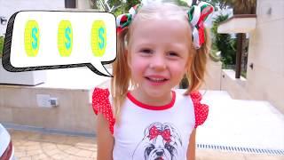 Nastya trồng một cây tiền và đã mua đồ chơi