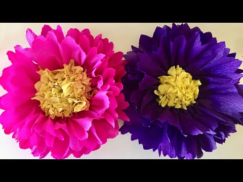 Big paper flowers craft | Giant paper Flowers for decoration | Wall Decoration Paper Flowers