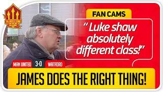 RICKY! LUKE SHAW MOTM AGAIN! Manchester United 3-0 Watford Fancam