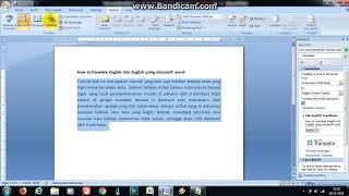 Download Video Cara Menerjemahkan Bahasa Indonesia Ke Bahasa Inggris Menggunakan Microsoft Office Word MP3 3GP MP4