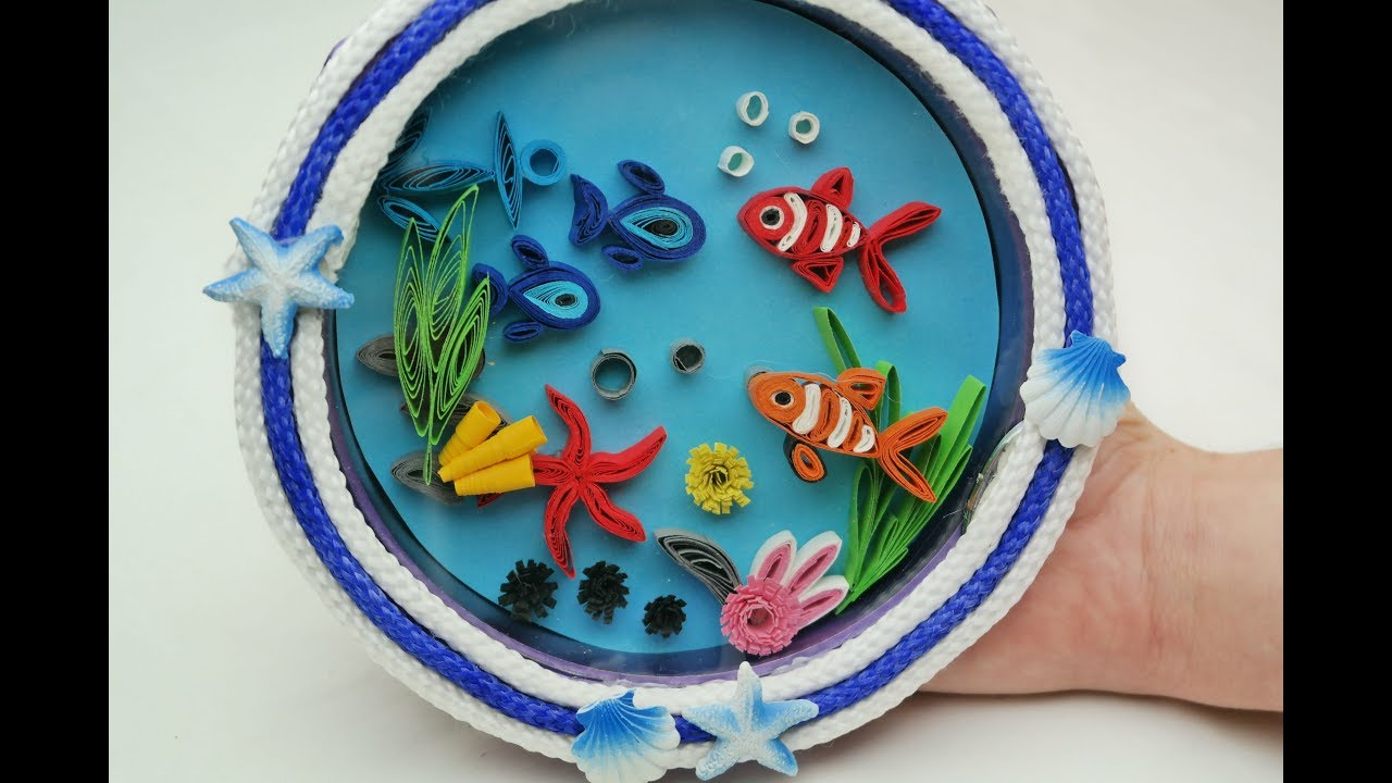 Diy Quilling Aquarium Recycled Old Wall Clock Youtube