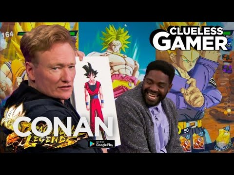 "Clueless Gamer: ""Dragon Ball Legends"" With Ron Funches  - CONAN on TBS"
