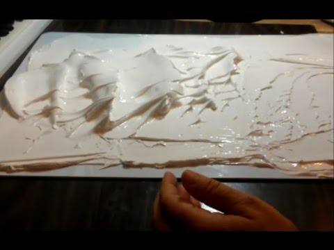 Giant Palette Knife Waves 3d Practice With Thick Paint