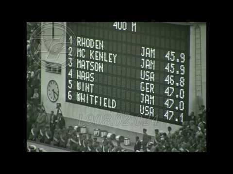 HELSINKI 1952  [GEORGE RHODEN] 400m AMATEUR FOOTAGE