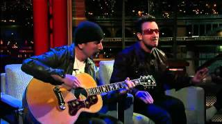 Bono & The Edge- Stuck In A Moment   Letterman  7/18/11  Full Video Hd