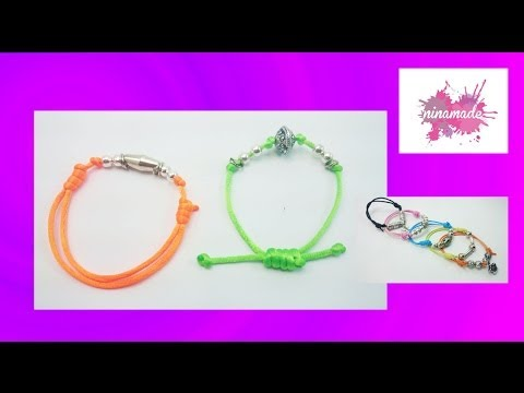 Préférence DIY. Noeud coulissant pour bracelets. - YouTube NZ23
