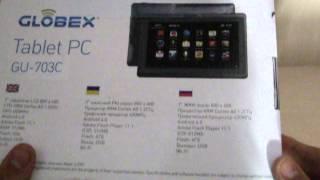 Распаковка китайского планшета Globex GU-703c