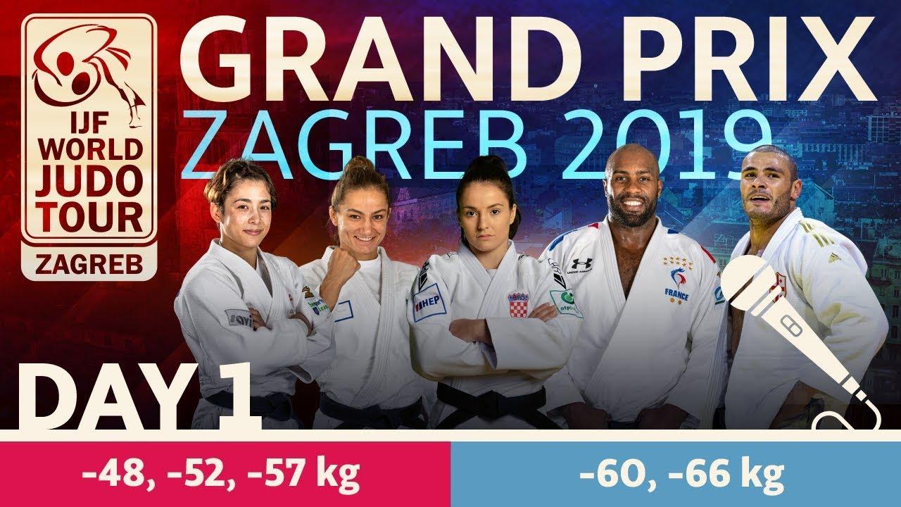 Judo Grand Prix Zagreb 2019 Day 1 Youtube