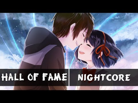 「Nightcore」 - Hall of Fame (Switching Vocals)