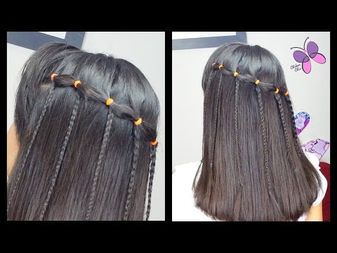 Elastic Waterfall Braid | Quick and Easy Hairstyles | Braided hairstyles