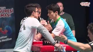 55 Kg Sol Kol Final Müsabakası - 5. Türkiye Genç Erkekler Bilek Güreşi Yarışması