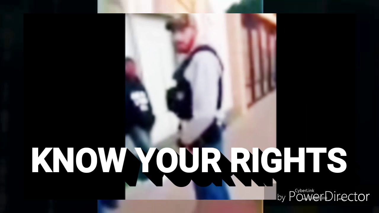 COPS : POLICE ILLEGALLY STOPS BLACK MAN : Know your rights !