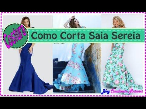 33f6b0ec2 Como Fazer Roupa de Festa - Corte Saia Sereia #1 - YouTube