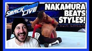 😲 Reaction   NAKAMURA BEATS AJ STYLES!!!   WWE Smackdown Live London May 15, 2018