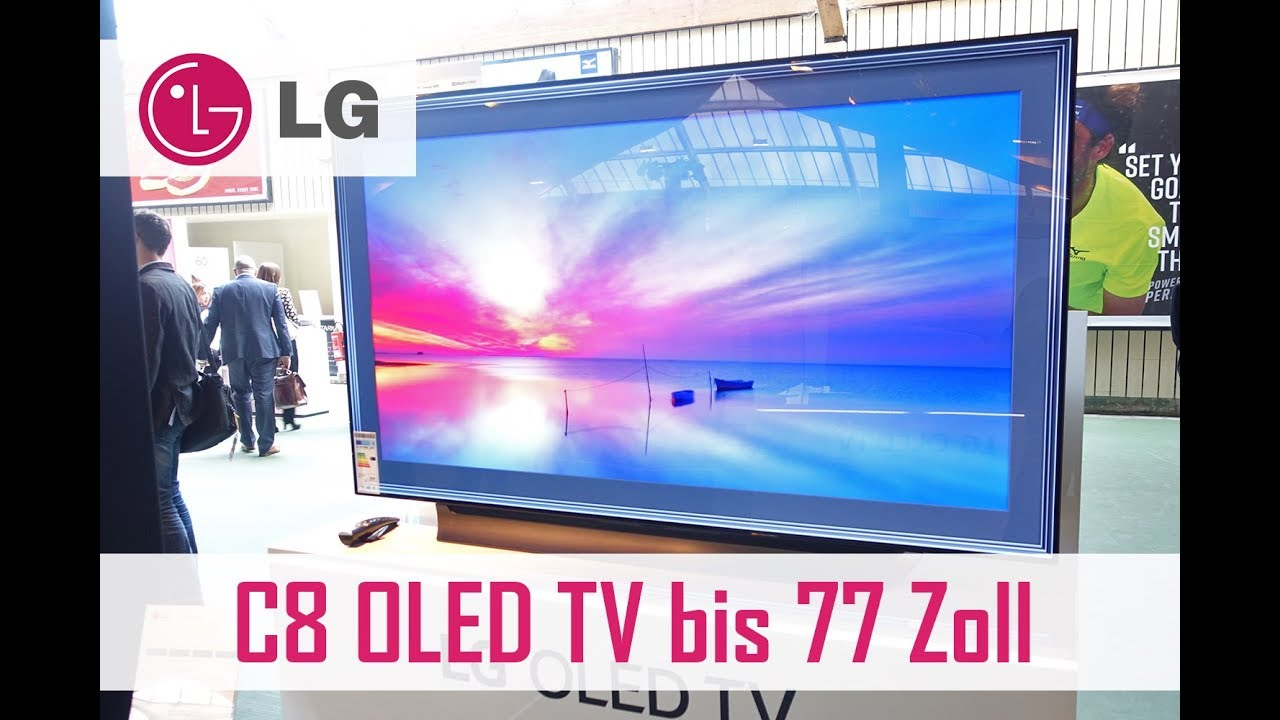 c8 4k oled tv 2018 in 55 65 und 77 zoll lg roadshow youtube. Black Bedroom Furniture Sets. Home Design Ideas