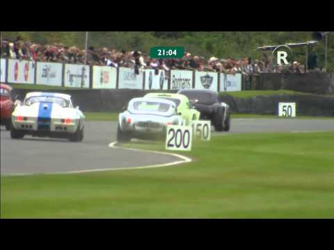 Frank Stippler goes off-track for the overtake at Goodwood Revival!