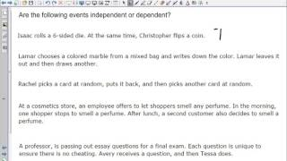 MDM 4 C Types of Events   Independent and Dependent