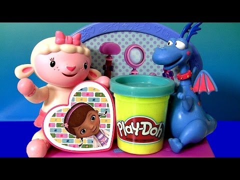 Play Doh Doc McStuffins Doctor Kit Playset Lambie Stuffy Play Dough Doctora Juguetes
