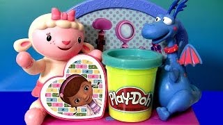 Play Doh Doc Mcstuffins Doctor Kit Playset 2014 Featuring Lambie Stuffy Clay Review Disney Junior