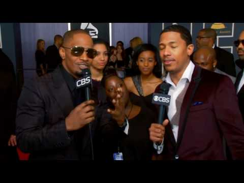 52nd Grammy Awards - Jamie Foxx, Diondra Dixon Interview
