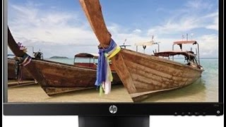 hp 23 inch led backlit lcd 23vx monitor unboxed and review