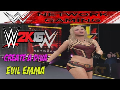 WWE 2K16 Create A Diva Evil Emma CAW Community Creations PS4 / XBOX ONE