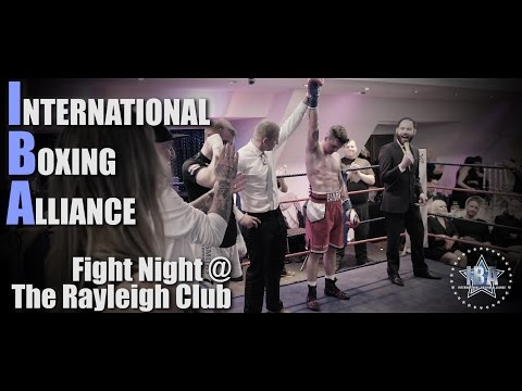 INTERNATIONAL BOXING ALLIANCE - Fight Night at The Rayleigh Club.