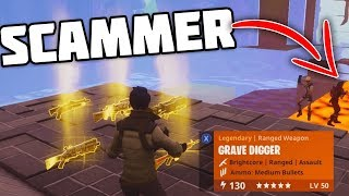 * MUST SEE * NOVO MAPA SCAMMER FICA SCAMMED! -Fortnite salvar o mundo scammer Xbox