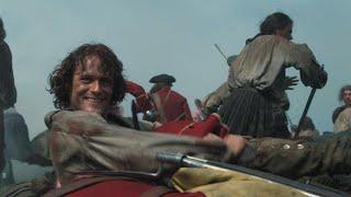 'Outlander' Season 3 Gag Reel: Watch Sam Heughan and Caitriona Balfe Goof Off on Set! (Exclusive)