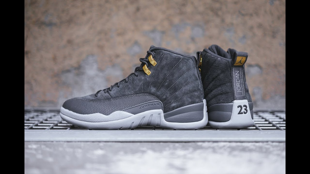 b96fa480b43 Air Jordan 12 'Dark Grey' Up Close and On Foot - YouTube